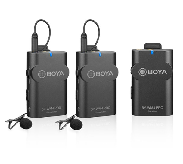 BOYA BY-WM4 PRO-K4 Dual Digital Wireless Microphone (Lightning Receiver + 2 TX)