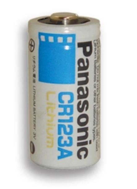 Panasonic CR123A Lithium Battery 3v