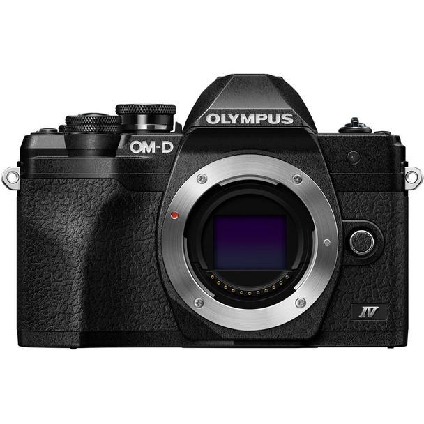 Olympus OM-D E-M10 Mark IV Mirrorless Digital Camera Body Only (Black)