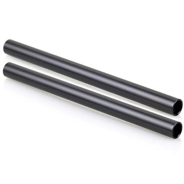 SmallRig 2pcs Black 15mm Rod w/ M12 - 25cm 1052