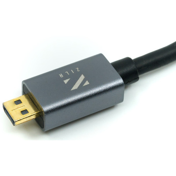 ZILR High Speed HDMI Cable (to Micro) 4Kp60 Type-A male to Type-D male 1m