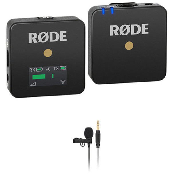 Rode Wireless GO Compact Wireless Omni Lavalier Microphone System Kit (2.4 GHz, Black)