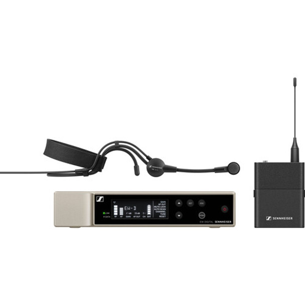 Sennheiser EW-D ME3 SET Digital Wireless Cardioid Headset Microphone System (R1-6: 520 to 576 MHz)
