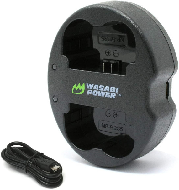 Wasabi Power Fujifilm NP-W235 Dual USB Battery Charger