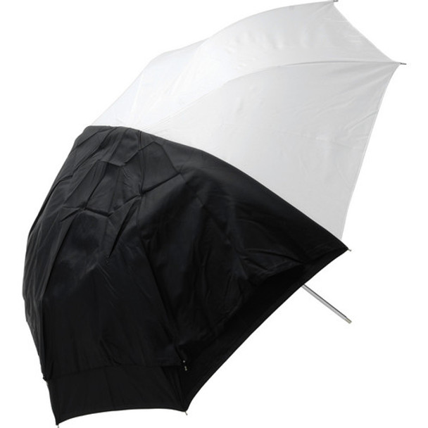 "Westcott 45"" Optical White Satin with Removable Black Cover Umbrella (114.3 cm)"