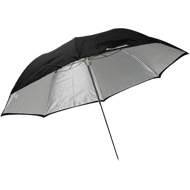 "Westcott 60"" Optical White Satin with Removable Black Cover Umbrella (152.4 cm)"