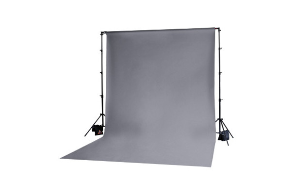 Muslin Grey Backdrop 3x6m