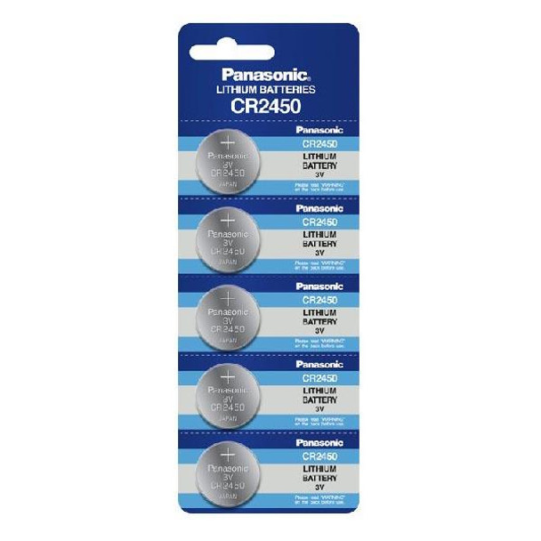 5-Pack Sony CR2450 Lithium Battery 3v