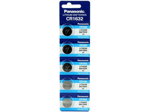 5-Pack Panasonic CR1632 Lithium Battery 3v