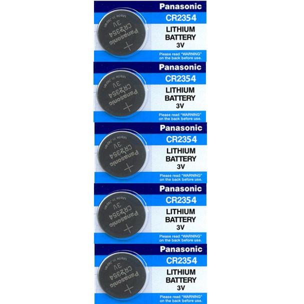 5-Pack Panasonic CR2354 Lithium Battery 3v