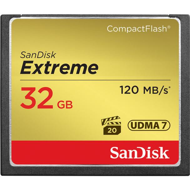 SanDisk Extreme CF 32GB Memory Card (120MB/S)