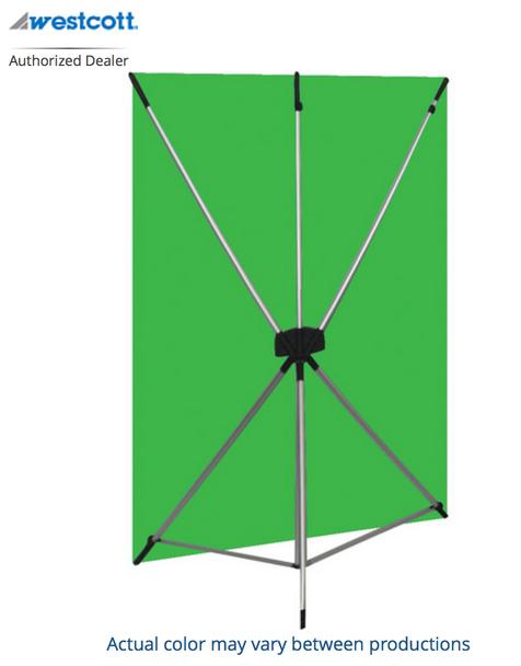 Westcott X-Drop Kit with 5' x 7' Green Backdrop (1.5 x 2.1 m)