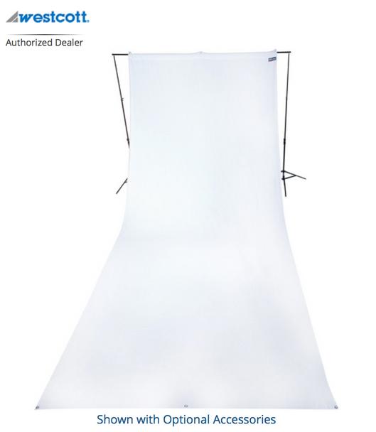 Westcott 9' x 20' White Backdrop (wrinkle resistant) (2.7 x 6 m)