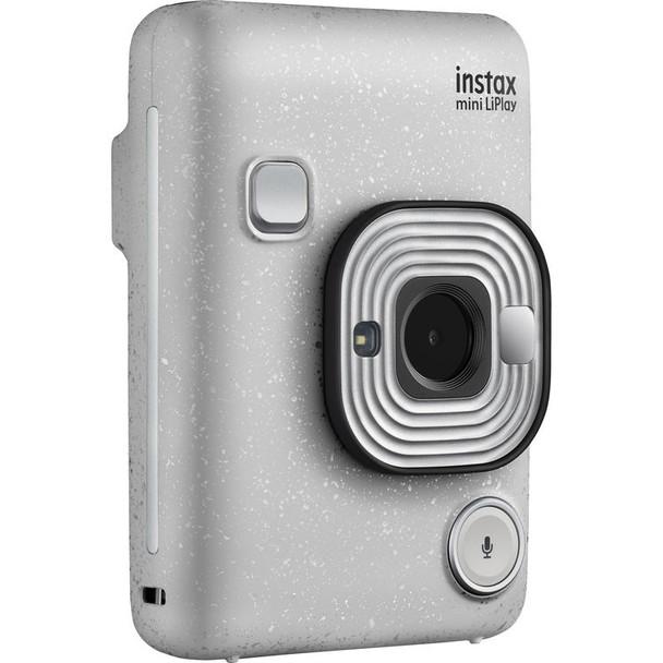 Fujifilm INSTAX Mini LiPlay Instant Camera (Stone White) + Cashback