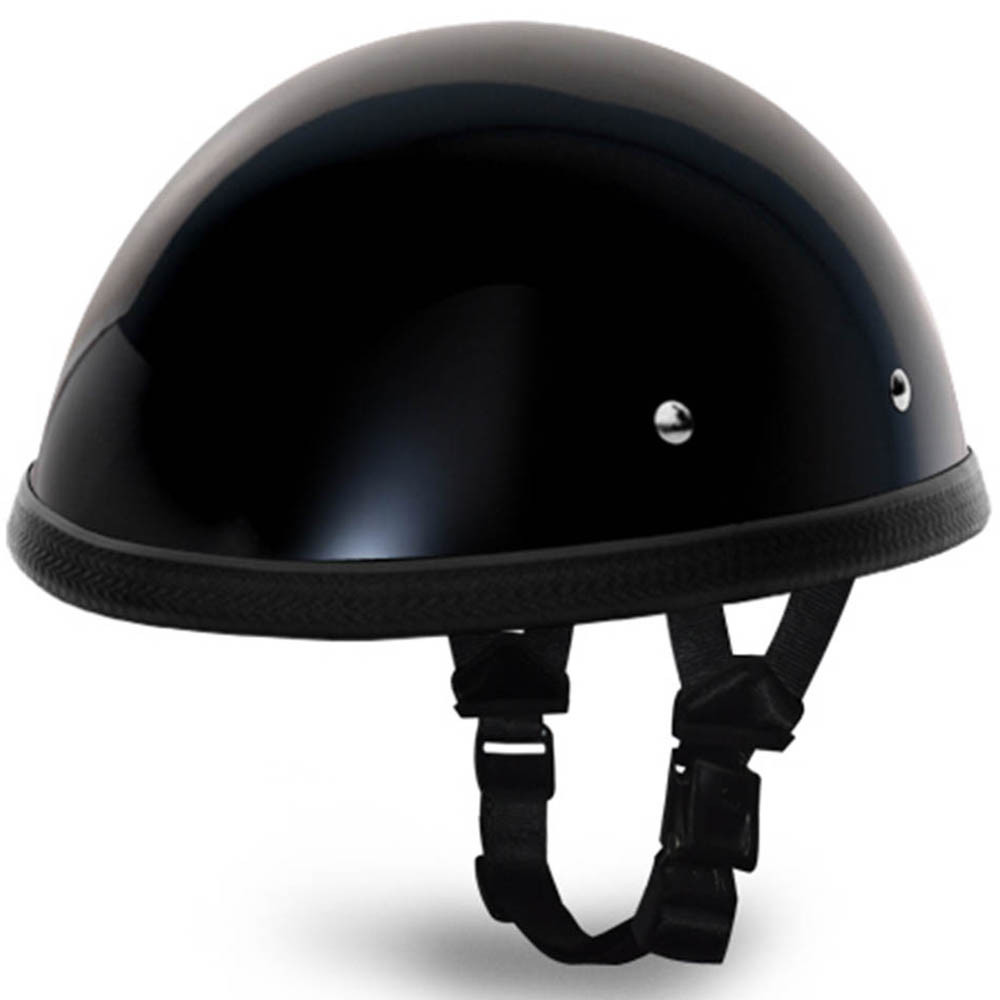 Black Classic EZ Rider Novelty Motorcycle Helmet | by Daytona XS S M L XL 2XL