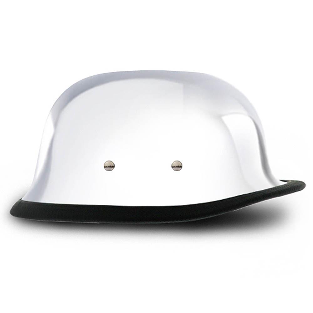 Real Chrome German Novelty Helmet   Novelty Motorcycle Helmet by Daytona XS-2XL