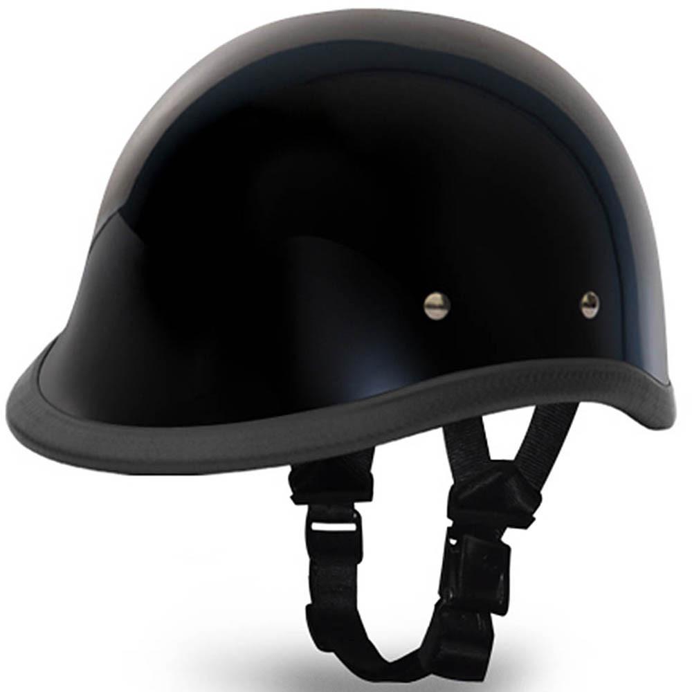 Gloss Black Hawk Novelty Motorcycle Helmet | Polo Helmet by Daytona XS-2XL