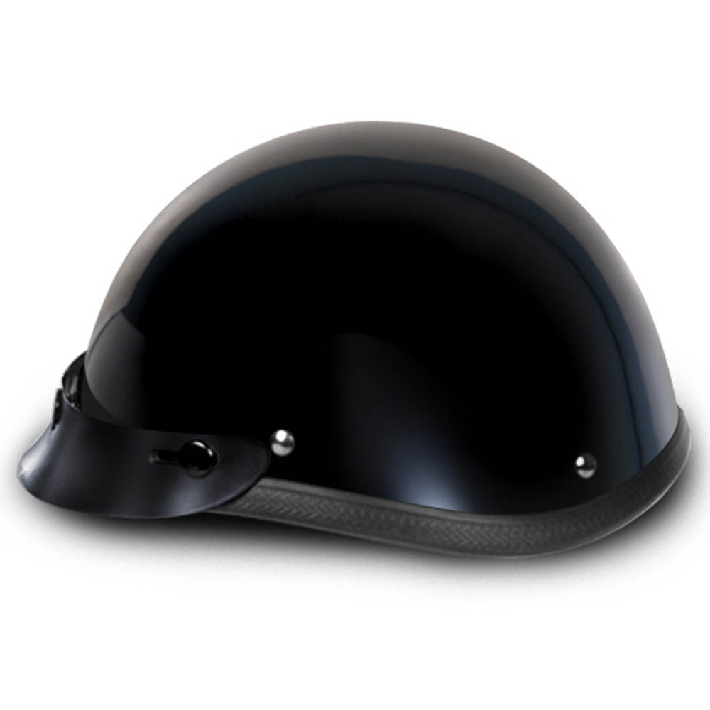 Gloss Black Smokey w Visor Novelty Motorcycle Helmet by Daytona Helmets XS-2XL