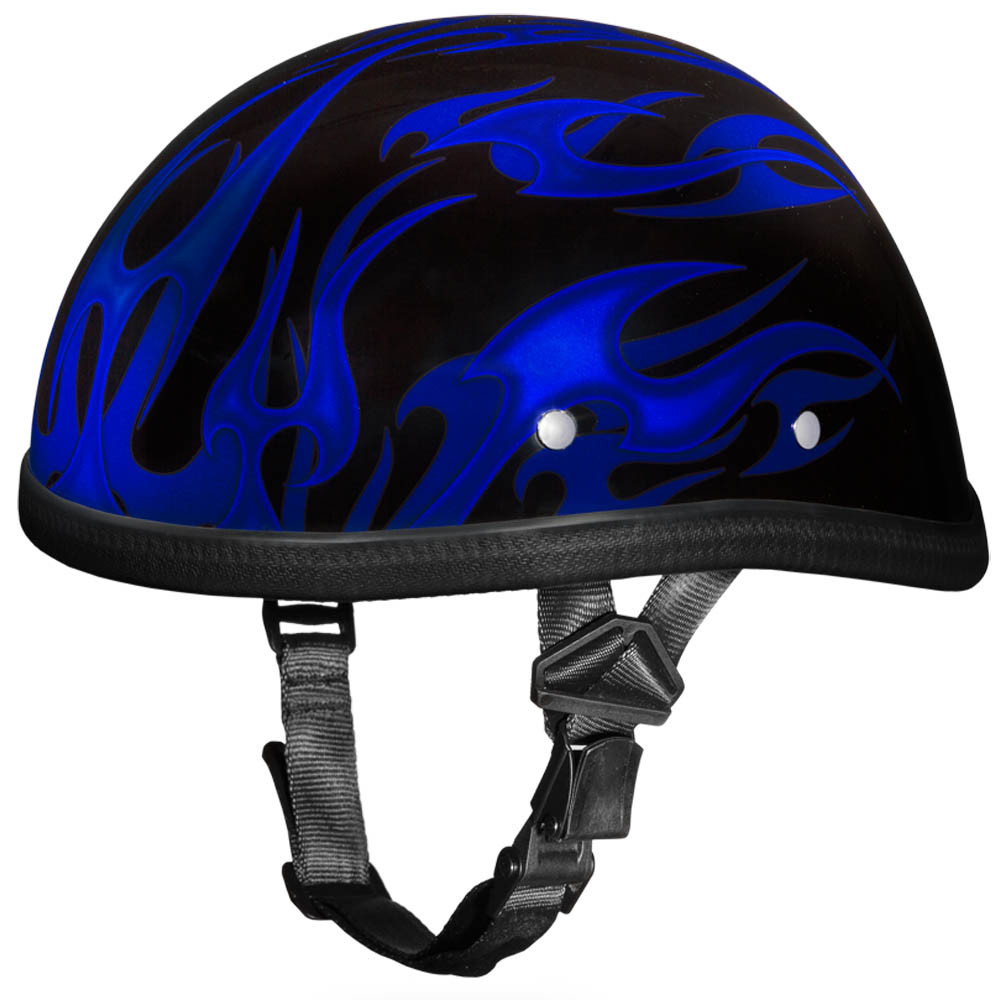 Novelty Helmet - Flames Blue by Daytona - 6002 FB