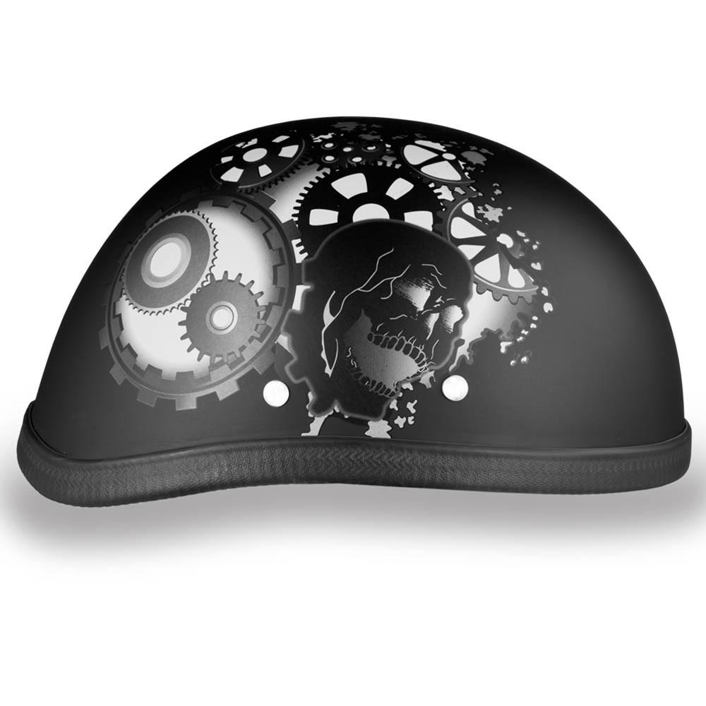 Gearhead - Matte Black Eagle Novelty Motorcycle Helmet - Daytona XS S M L XL 2XL