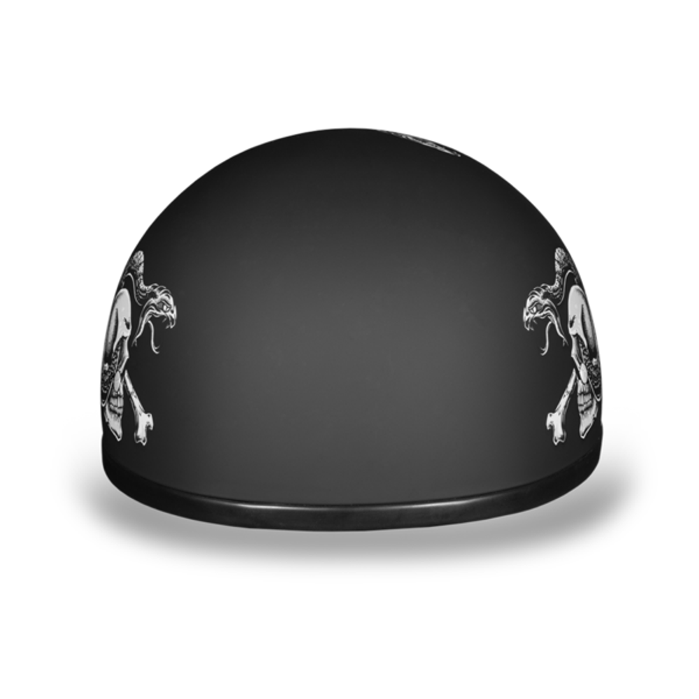 D.O.T. DAYTONA SKULL CAP- W/ SNAKE SKULLS