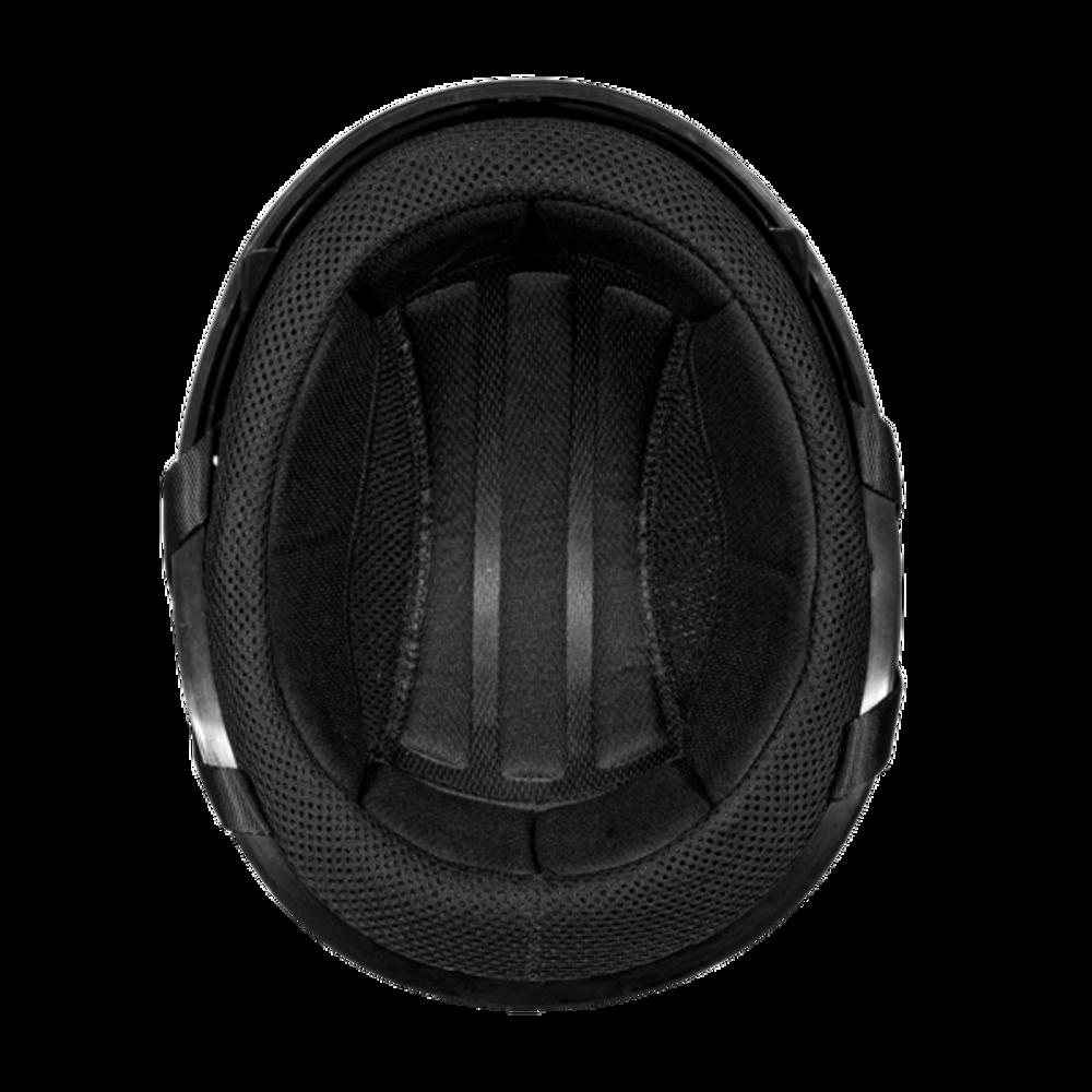 D.O.T. DAYTONA SKULL CAP W/ INNER SHIELD- DULL BLACK