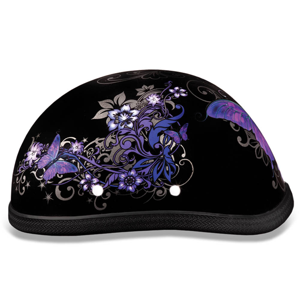 Purple Butterfly Novelty Motorcycle Helmet by Daytona Helmets XS S M L XL 2XL