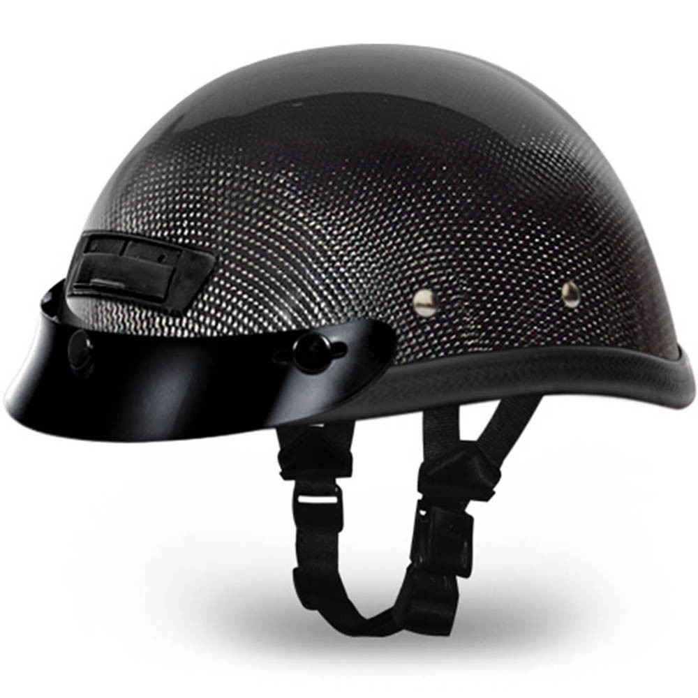 Real Carbon Fiber Eagle Novelty Helmet with Vents by Daytona Size XS-2XL