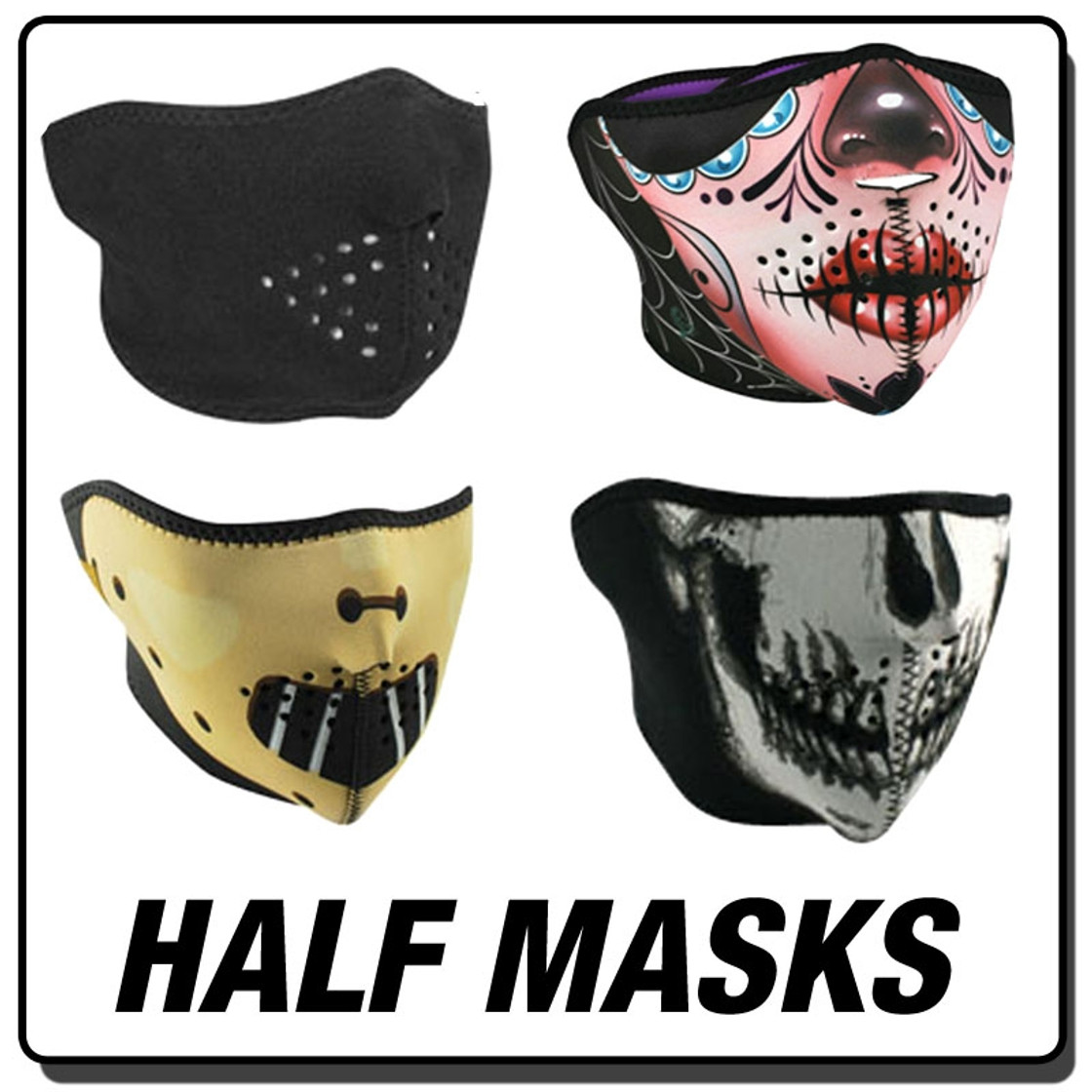 Neoprene - Half Masks