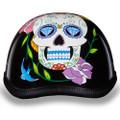 Sugar Skull | Diamond Skull Novelty Motorcycle Helmet by Daytona XS S M L XL 2XL