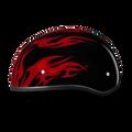 D.O.T. DAYTONA SKULL CAP- W/ FLAMES RED