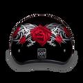 D.O.T. DAYTONA SKULL CAP- W/ ROSE