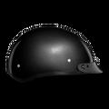D.O.T. DAYTONA SKULL CAP- GUN METAL GREY METALLIC