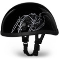 Barbed Skulls Eagle Novelty Helmet   Novelty Helmets by Daytona XS S M L XL 2XL