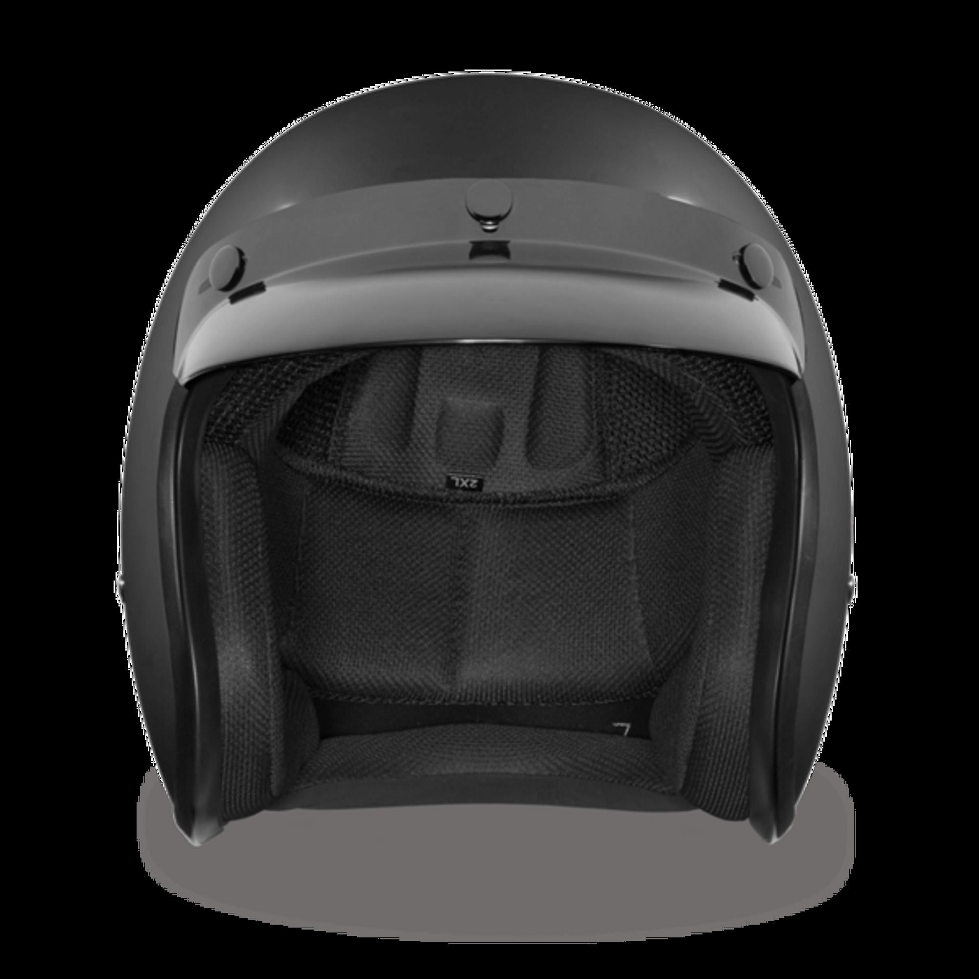 Daytona Cruiser Helmet Dull Black 3//4 Open Face DOT 2XS-4XL