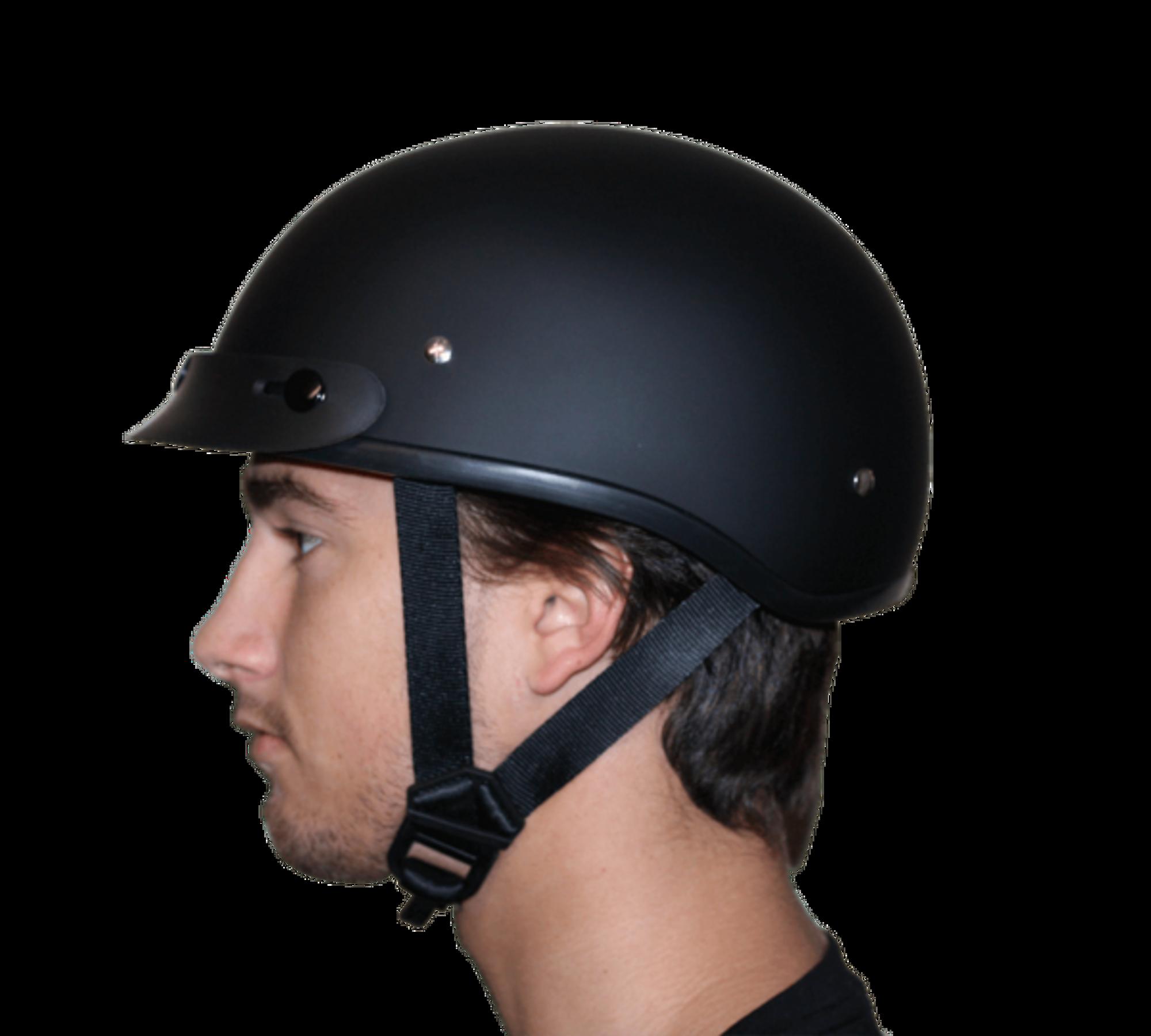 D.O.T. DAYTONA SKULL CAP- W  FLAMES BLUE - Novelty Helmet Shop b3c300e9a29