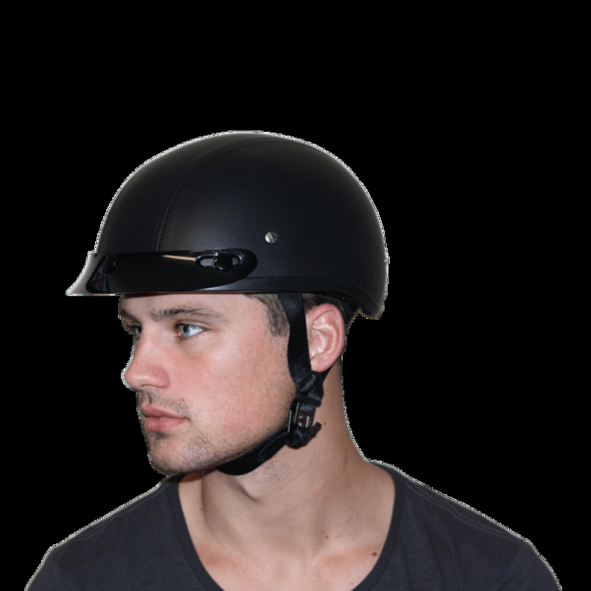 D.O.T. DAYTONA SKULL CAP- LEATHER COVERED - Novelty Helmet Shop e7250642270