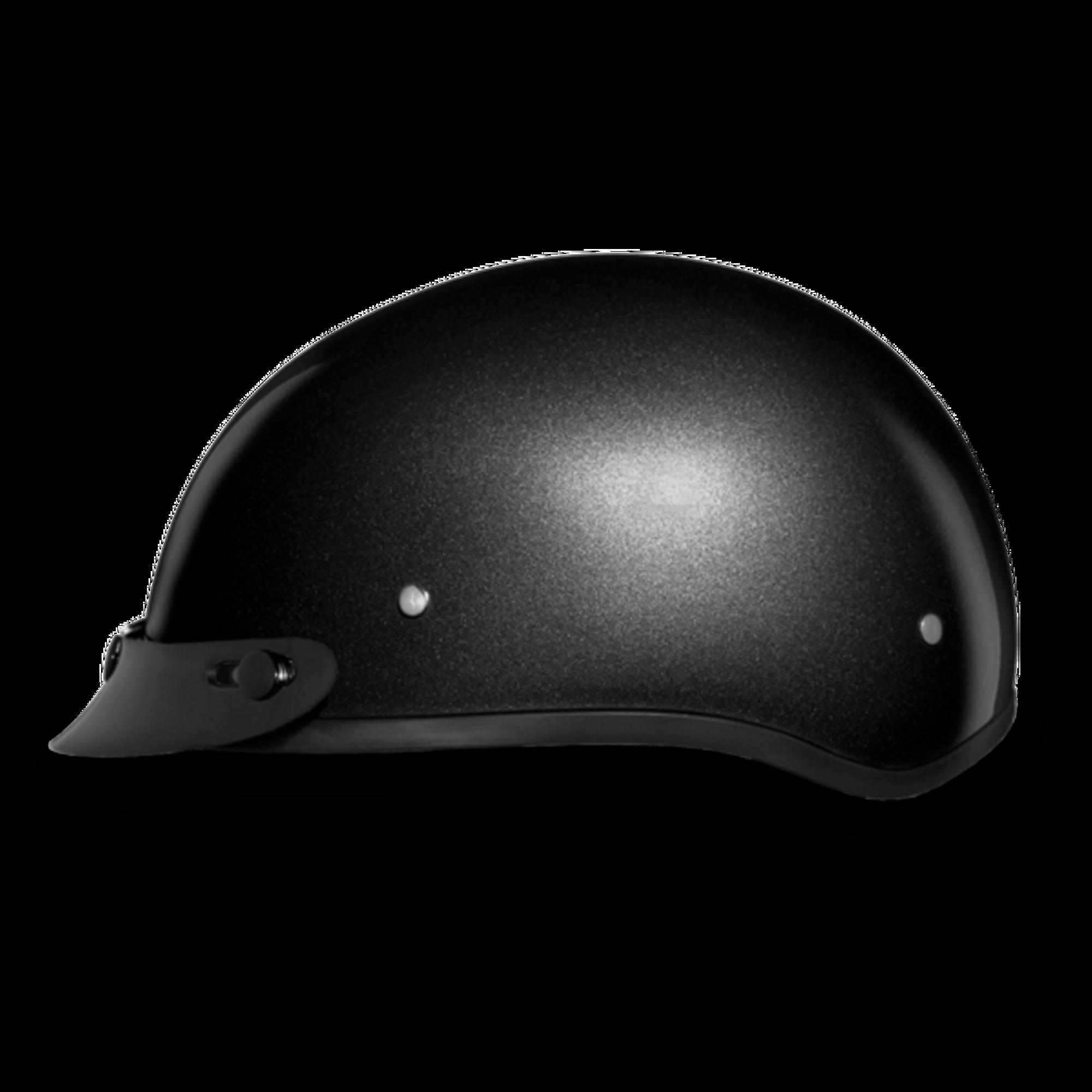D.O.T. DAYTONA SKULL CAP- GUN METAL GREY METALLIC - Novelty Helmet Shop 17e4bcf7a2b