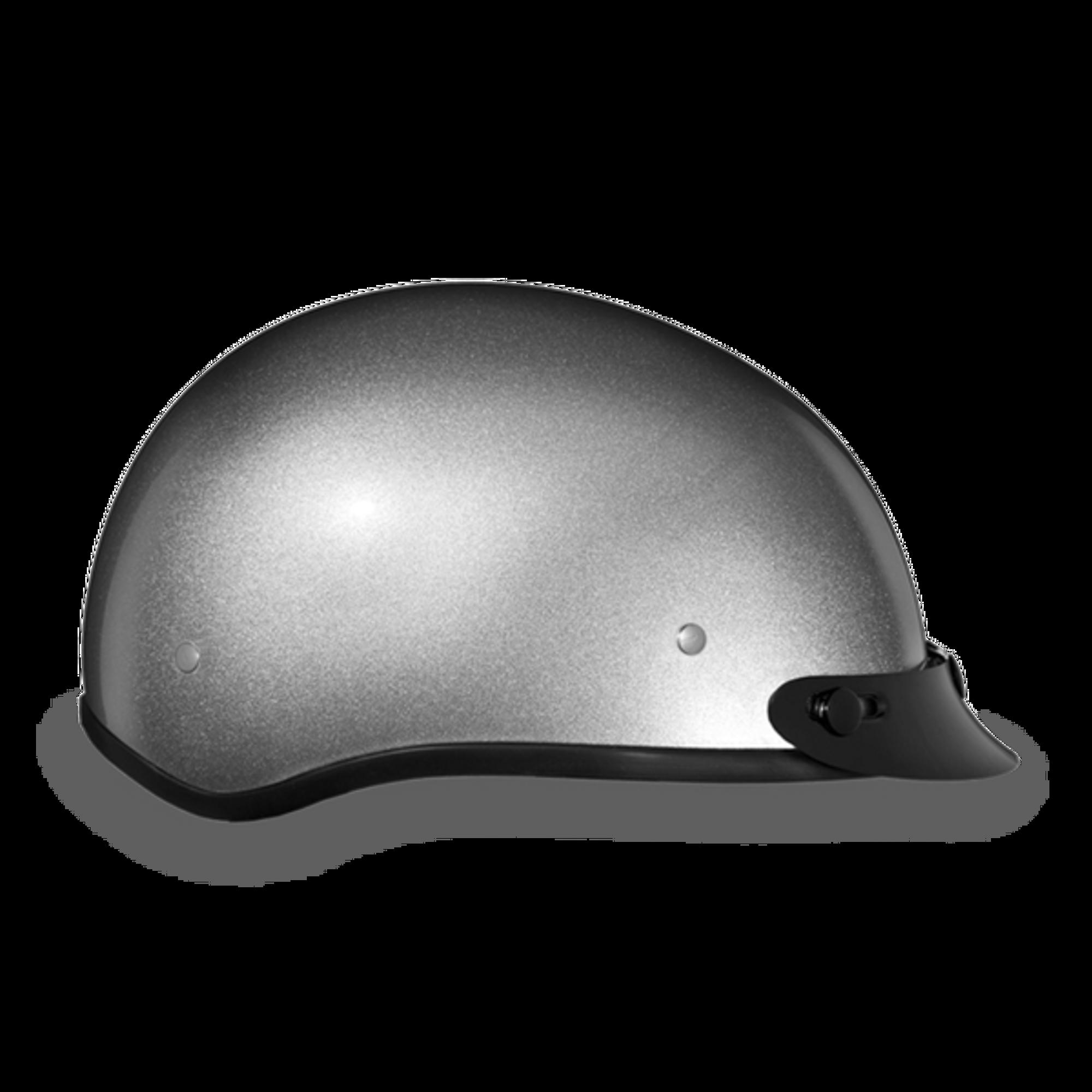 4720534c873 D.O.T. DAYTONA SKULL CAP- SILVER METALLIC - Novelty Helmet Shop