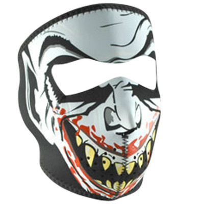 Neoprene Face Mask | Motorcycle Face Mask | Glow in the Dark Vampire - WNFM067G