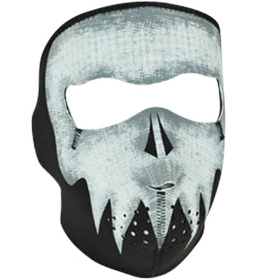 Neoprene Face Mask | Motorcycle Face Mask | Glow in the Grey Skull - WNFM081G