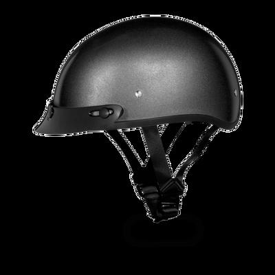 62f942e2 D.O.T. DAYTONA SKULL CAP- GUN METAL GREY METALLIC