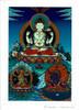 Chenrezig with Retinue Deity Card Print, by Kumar Lama
