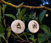 Conch Shell EH-WAM Seed Syllable Earrings