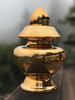 Golden Treasure Vase with 24 Karat Gold Glaze