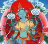 Large Print of Green Tara Thangka by Kumar Lama