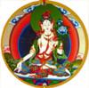 White Tara Hanging Medallion
