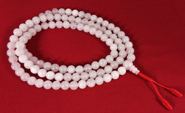 Light Pink Rose Quartz Mala