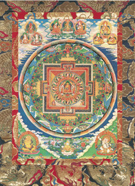 Sixteen Great Arhats Mandala Deity Card