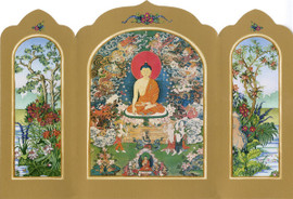 The Buddha's Enlightenment - Traveling Altar Card